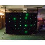 Rideau à LED d'affichage en tissu 3x4 P18