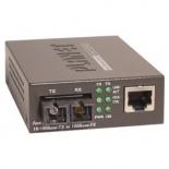 FT-802S50 10/100TX - 100Base-FX (SC) Single Bridge Mode Fiber Converter - 50KM, LFPT