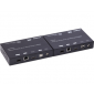 Transmitter 4K HDMI+USB KVM Extender over IP/Fiber, with POE