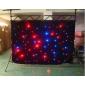 Rideau à LED d'affichage en tissu