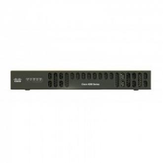 Cisco ISR 4221 SEC Débit système de 35 Mbps à 75 Mbps, 2 ports WAN/LAN, 1 port SFP, CPU multicœur, 2 NIM