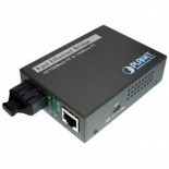 10/100TX - 100Base-FX (SC) Single Mode Bridge Fiber Converter - 15KM, LFPT