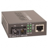 FT-802S50 10/100TX - 100Base-FX (SC) Single Bridge Mode Fiber Converter - 50KM, LFPT